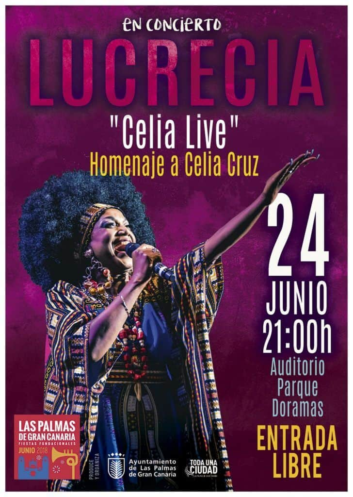 Cartel del concierto en Las palmas de gran canaria Lucrecia