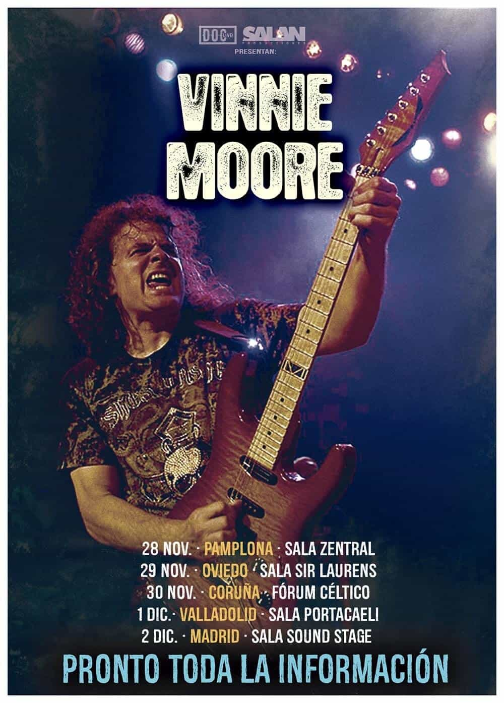 Gira por España Vinnie Moore