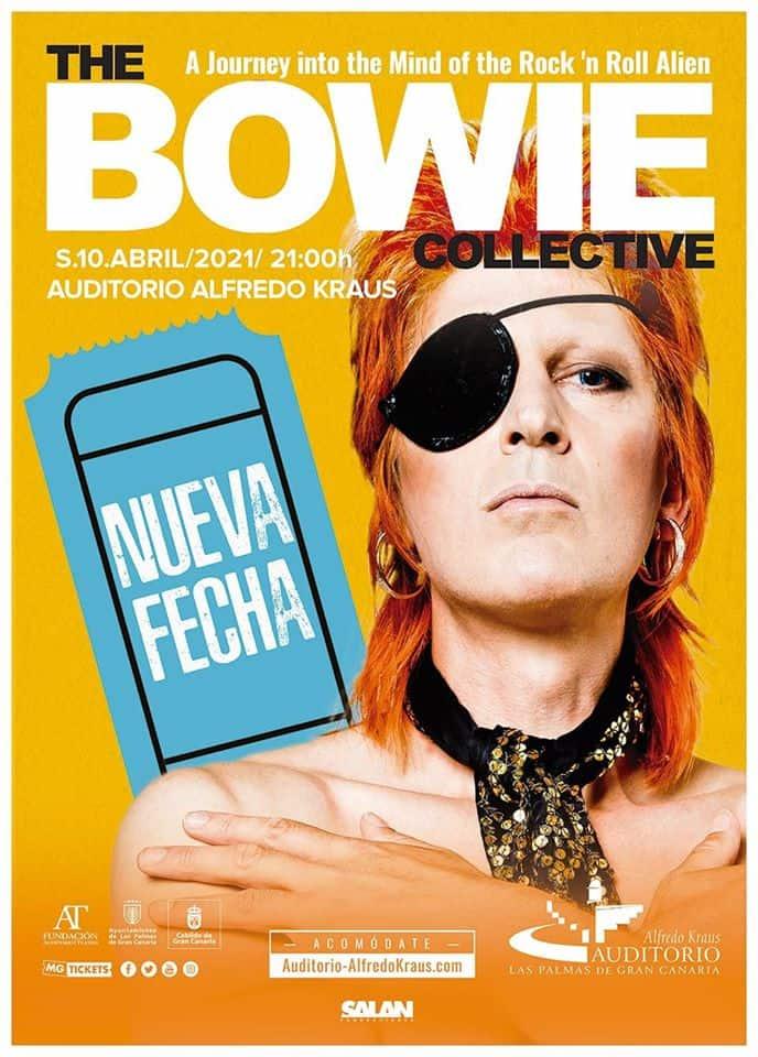 Cartel del concierto en directo tributo David Bowie